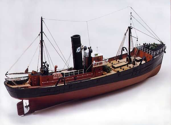 Caldercraft Milford Star - Side Trawler 1:48 Scale RC Radio Control Model Boat Kit Cornwall Model Boats Ltd