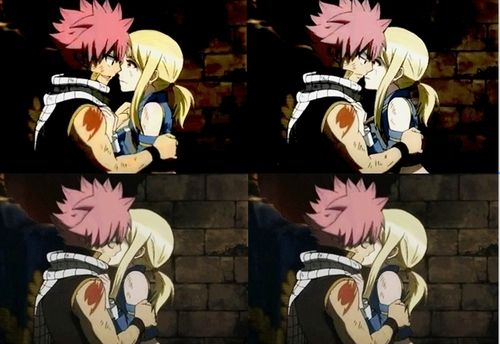 Fairy tail lucy and natsu kiss episode