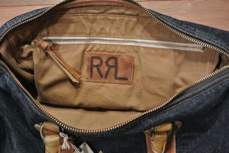 ARCHIVES (過去の取り扱い商品) - RRL ダブルアールエル Winston デニム+レザー ダッフルバッグバッグ 新品 定価50760 - POLORALPHLAUREN,ポロラルフローレン,RRL,RUGBYほかDEADSTOCKデッドストック品等をアメリカから買付け入荷していますっ!!