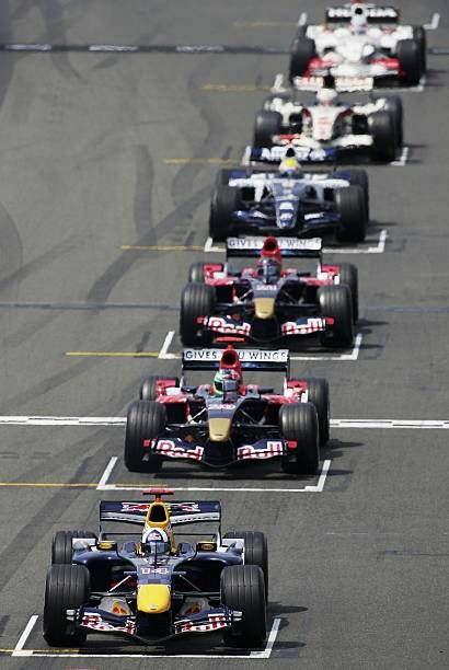 David Coulthard of Great Britain and Red Bull Racing lines up for the start of the F1 British Grand Prix on June 11th 2006 at Silverstone England
