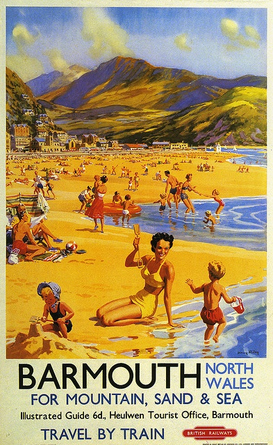 Barmouth | Flickr - Photo Sharing!  I remember spending many happy, sunny days on the beach at Barmouth.  One of the nearest beaches to Cadair View Lodge and it has a Blue Flag award too