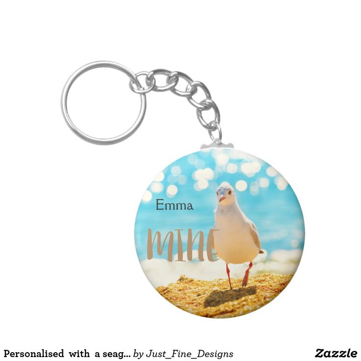 Personalised  with  a seagull key ring