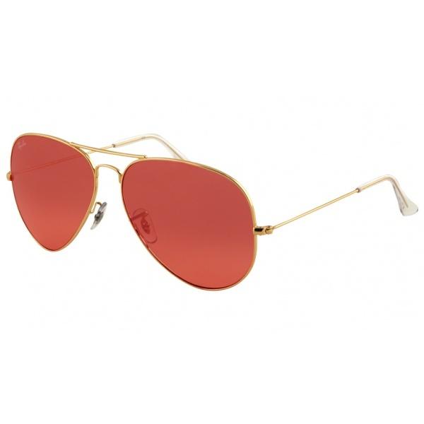 ray ban rb3025 aviator sunglasses gold frame crystal honey lens