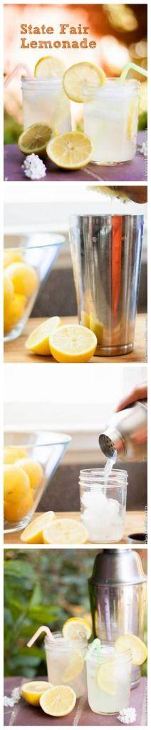 Quick and Easy Authentic State Fair Shaker Lemonade | dessertdesignlife.com