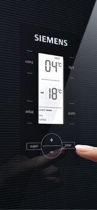With the LCD screen the temperature of the Siemens cooling appliances can be regulated exactly.// Über den LCD-Screen lässt sich die Temperatur der Siemens Kühlgeräte gradgenau regeln. #Kuehlschrank #refrigerator #enjoysiemens