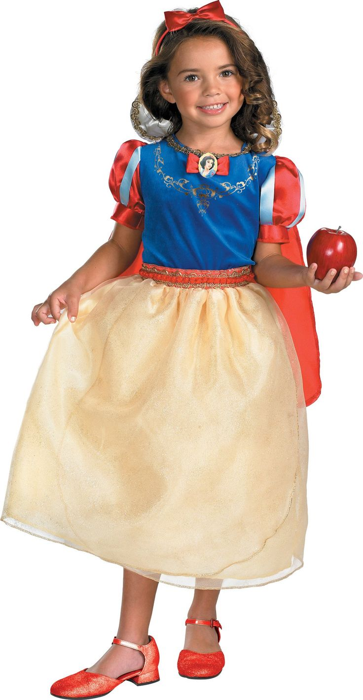 Snow White and the Seven Dwarfs Snow White Deluxe Toddler / Child Costume -Medium (7-8). Officially licensed Disney Costume. The apple does not come with the dress. $38.46
