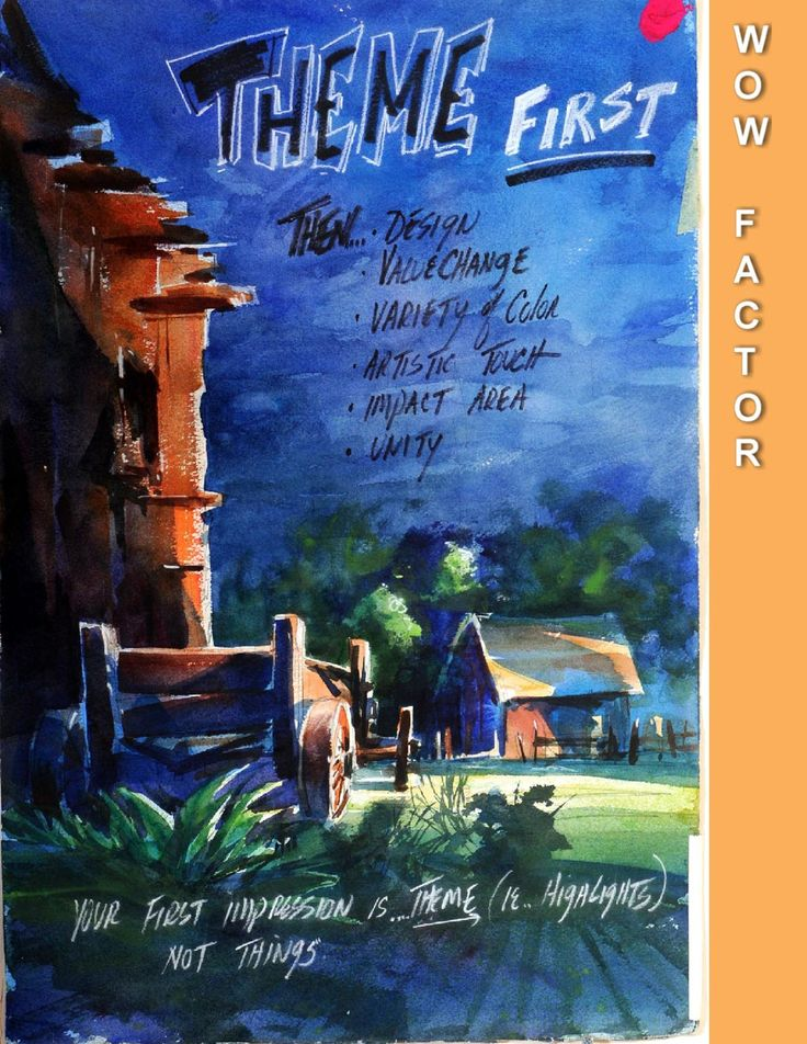 How to give your watercolour paintings the WOW factor (watercolor)