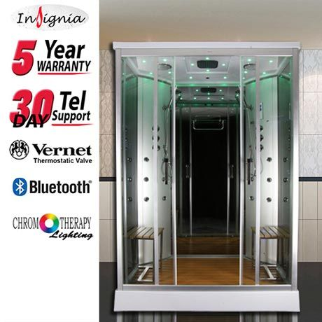 Insignia Two Person Steam Shower Cabin - INS9005