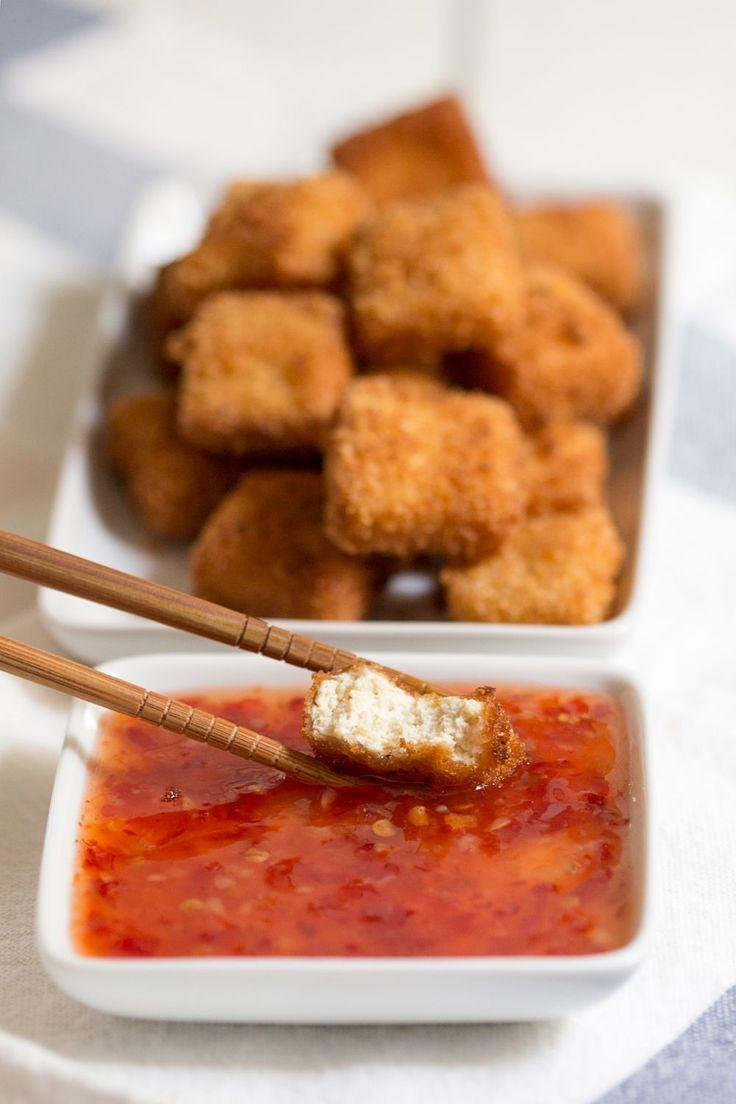 Tofu katsu with chilli sauce - Lazy Cat Kitchen