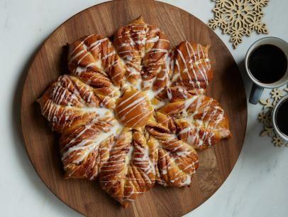 Raspberry Snowflake Pull-Apart Bread Recipe | Food Network Kitchen | Food Network