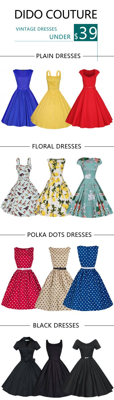 12 Lovely Vintage 1950s Rokabilly Dress