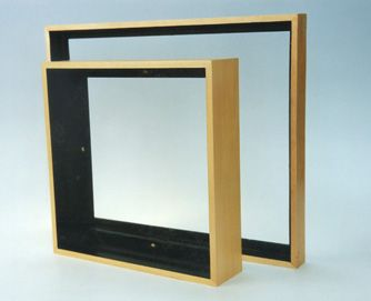 picture frames for canvas paintings basswood floater frame sealed with a clear lacquer to see