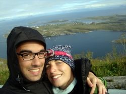 Benedetta and Emanuele are both 25 years. Two Italian students who travelled the coastal road by themselves summer 2012 only using public transportation.#Kystriksveien #backpacker #Norway #public_transportation #NorthernNorway