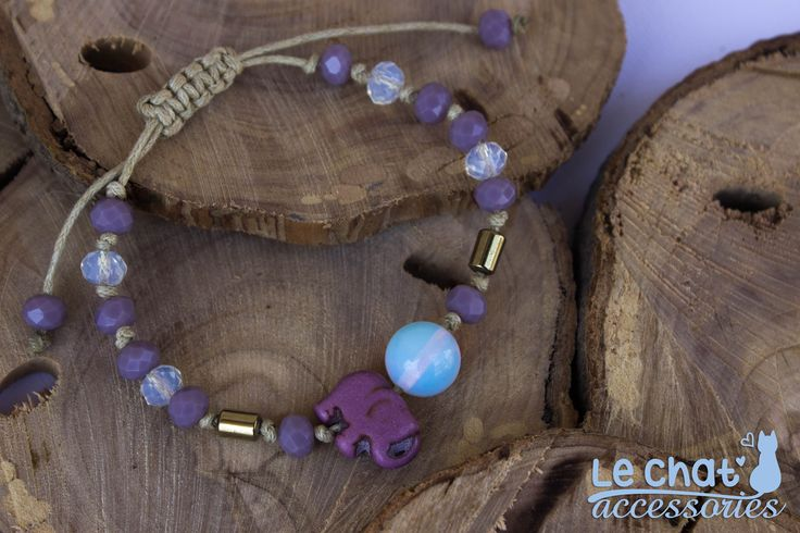 Cord bracelet with moonstones, hematite and howlite...  #lechataccessories #handmadecreations #pastelcolours #elephant  © Danae Lolou  Find me on Facebook & Instagram : Le Chat Accessories for more photos. https://www.facebook.com/lechataccessoriesdanae/  https://www.instagram.com/lechataccessories/