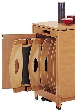 Mueble sillas plegables reforma piso arriba pinterest - Mesa plegable con sillas dentro ...