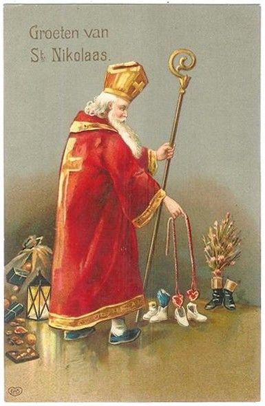 Sinterklaaskaart : Groeten van St Nikolaas
