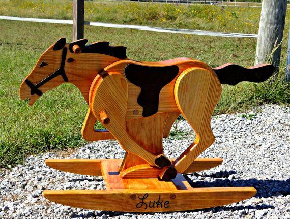 Personalized Rocking Horse / Handmade by RockingwoodBuddies