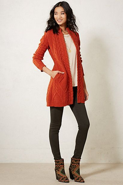 Cabled Sweater Coat #anthropologie