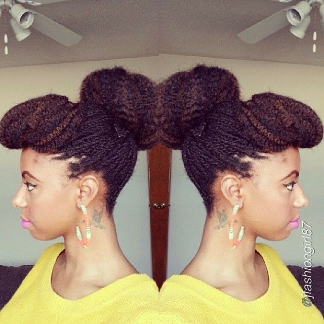 @Jess Liu Pettway used Marley  braid hair to create this gorgeous updo! #naturalhair #teamnatural #naturalista #afrohair #marley #braid #updo ... Via Naturally _Candace
