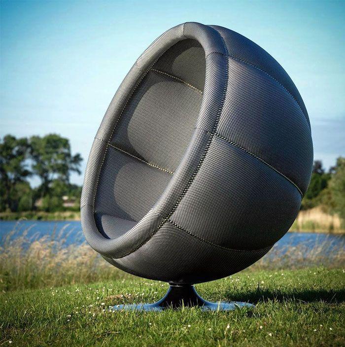 Amazing Redesigned And Upholsterd Eero Aarnio Ball Chair.