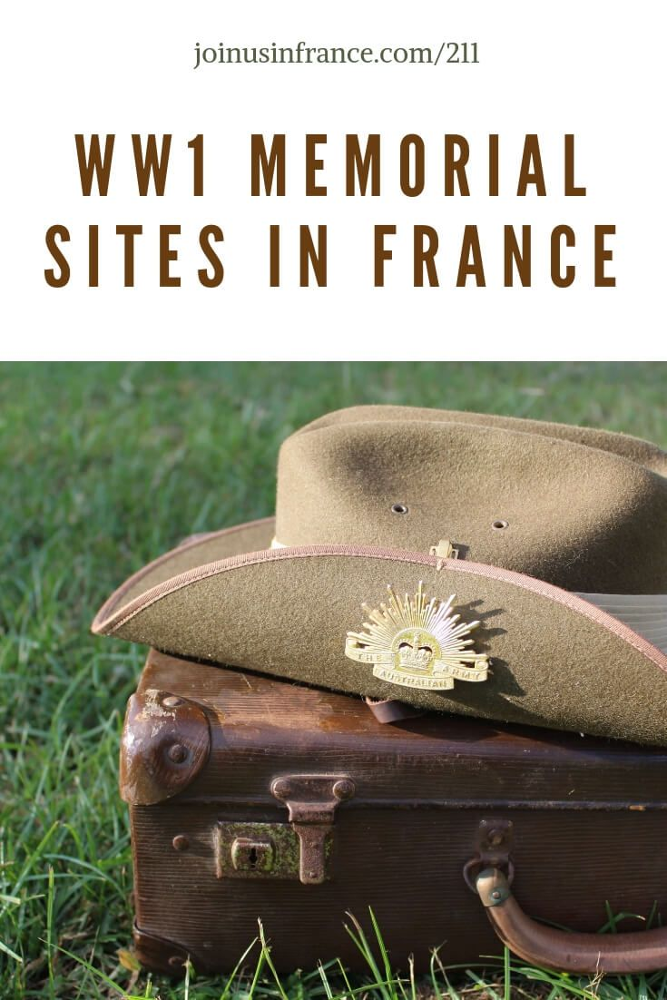 WW1 Memorials in France Dedicated to English-Speaking Troops