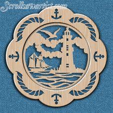 Scroll Saw Patterns :: Miscellaneous :: Decorative plates :: Decorative plate - Nautical -