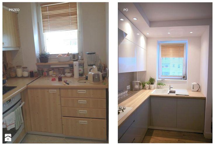 REFRESH MIESZKANIA 48m2 - Mała otwarta kuchnia w kształcie litery l, styl nowoczesny - zdjęcie od WNĘTRZNOŚCI Projektowanie wnętrz i mebli Aneta Stokowska