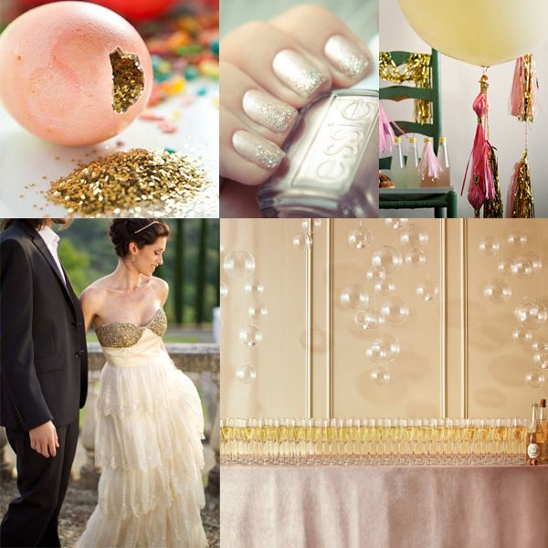 glitter bruiloft