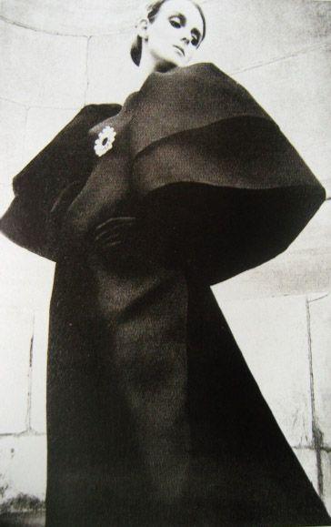 Grace Coddington modeling  Balenciaga, 1964.