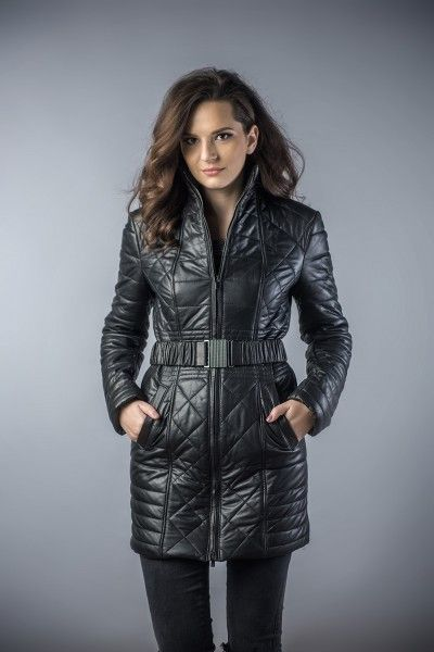 Leather coat for women black Erma11 (1)