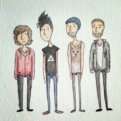 bastille band cartoon