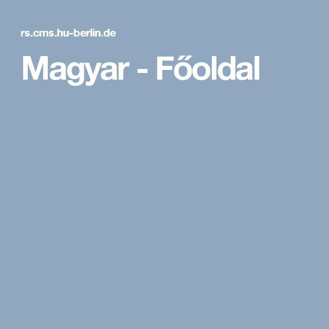 Magyar - Főoldal