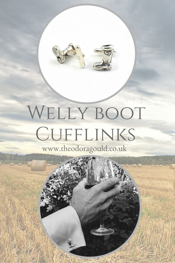 The perfect gift for a country loving man.  Solid silver, vermeil or gold wellington boot cufflinks. Fully hallmarked.