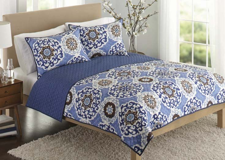 Better Homes And Gardens Suzani Bedding Quilt Blue