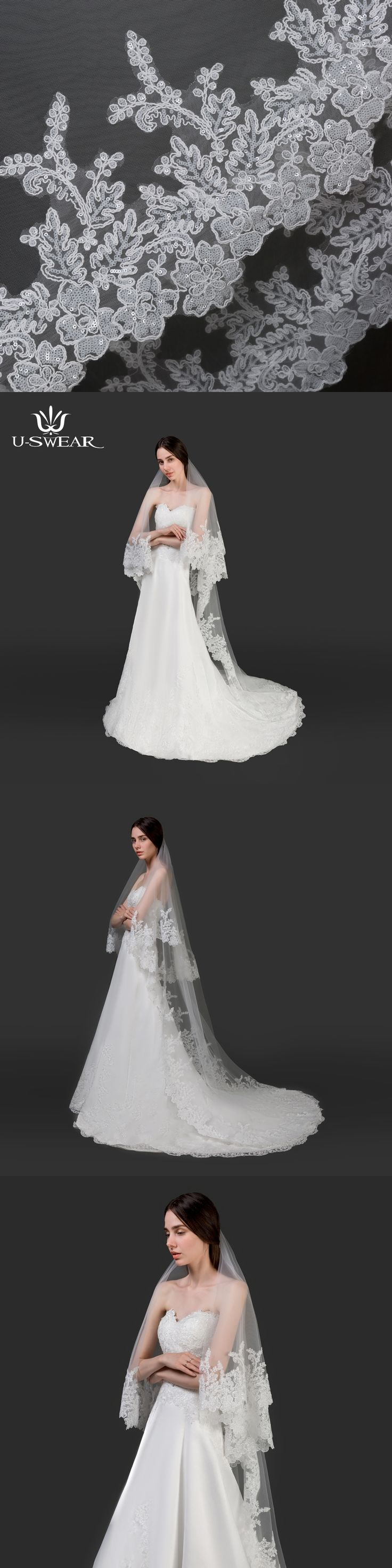 new arrive Stock Wedding Accessories long Simple Wedding Veil White Two Layer Bridal Veil With Comb high quality Wedding Veil