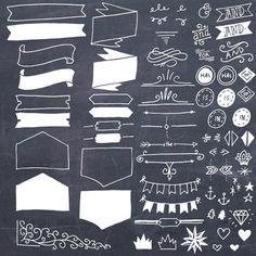 Typografie Elemente ClipArt Vektoren / / von thePENandBRUSH auf Etsy