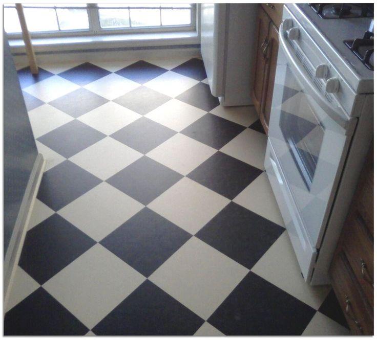 Linoleum In Checkerboard Pattern Bath Pinterest