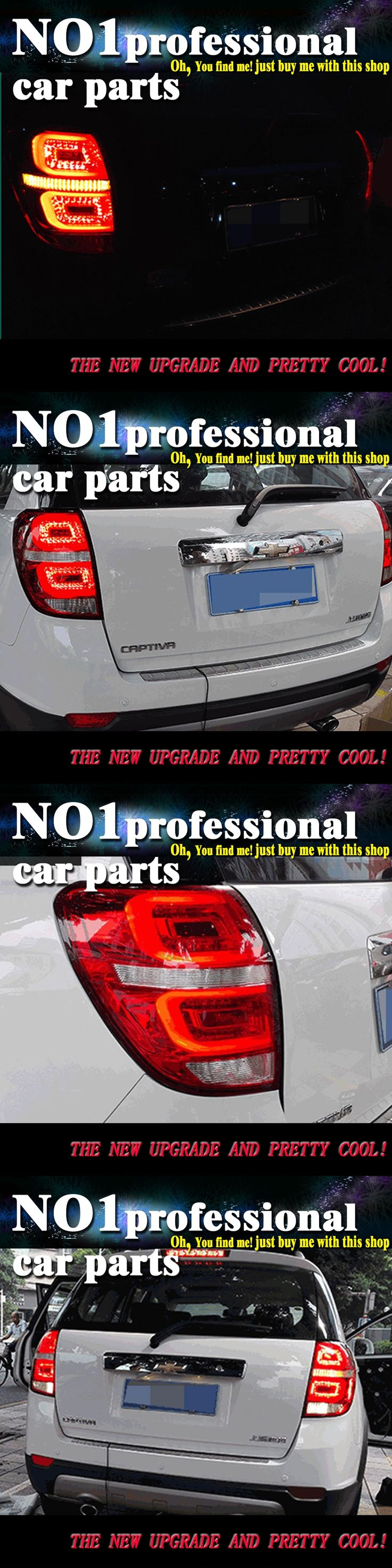 Car Styling 2008 2015 for Captiva taillight taillights  LED Tail Lights  Rear Lamp LED DRL+Brake+Park+Signal Stop Lamp