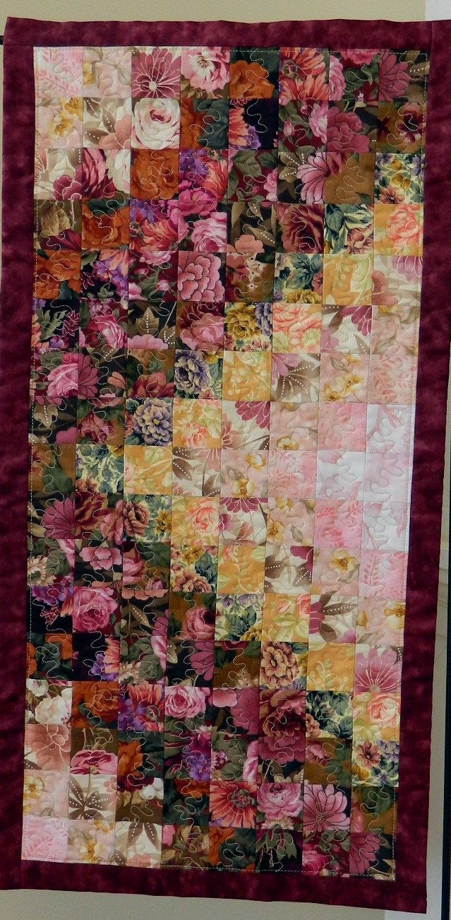 Down the Garden Path quilted table runner/wall hanging via Etsy