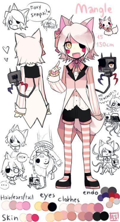 Imagenes De Fnaf Anime - especial mangle - Página 2 - Wattpad