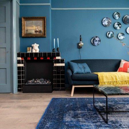 17 beste ideeën over Blauwe Woonkamers op Pinterest - Marine ...