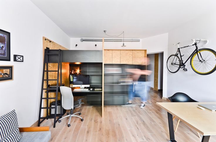 Maciej Kawecki, of Brandburg Studio, hired mode:lina:tm: after finding the perfect apartment in Pozna?, Poland to become his new place to both live and work.