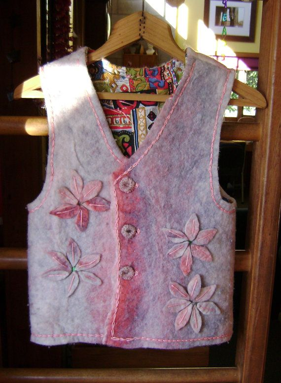 Lovely wool felt vest by softearthart on Etsy, $15.00