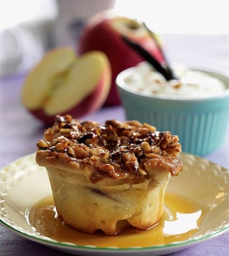 Æbletærter med nødder