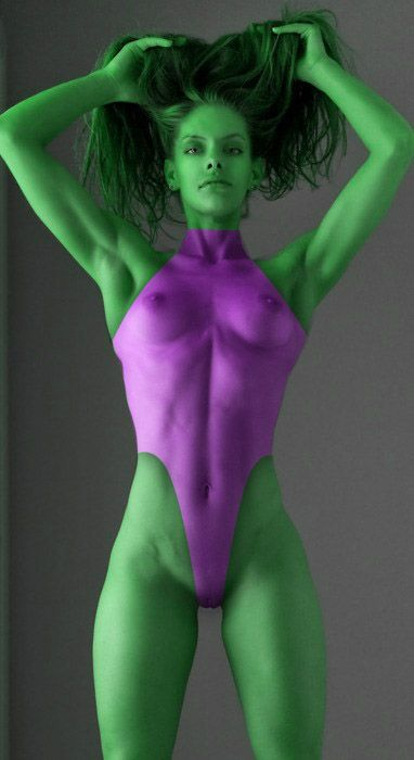 Very Nude body painted girl idea