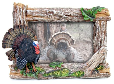 Sculpted Turkey Rustic 4x6 Picture Frame