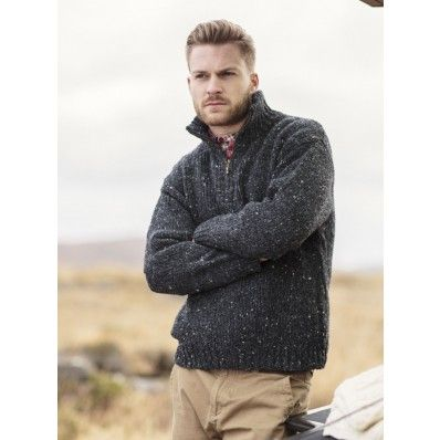 This men's zipper troyer sweater is the perfect gift to give this father's day ♥ http://www.standun.com/mens-zipper-troyer-sweater-by-carraig-donn-r227.html
