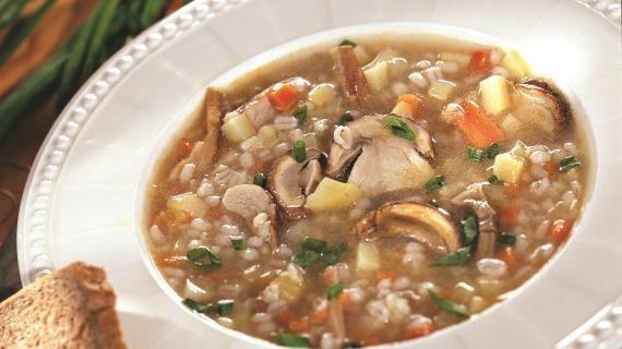 Грибной суп с перловкой. Пошаговый рецепт с фото на Gastronom.ru