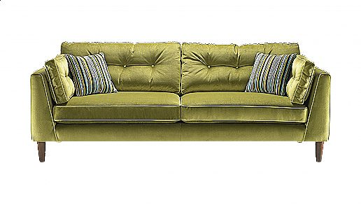 4 Seater Sofa With Dark Wood Feet