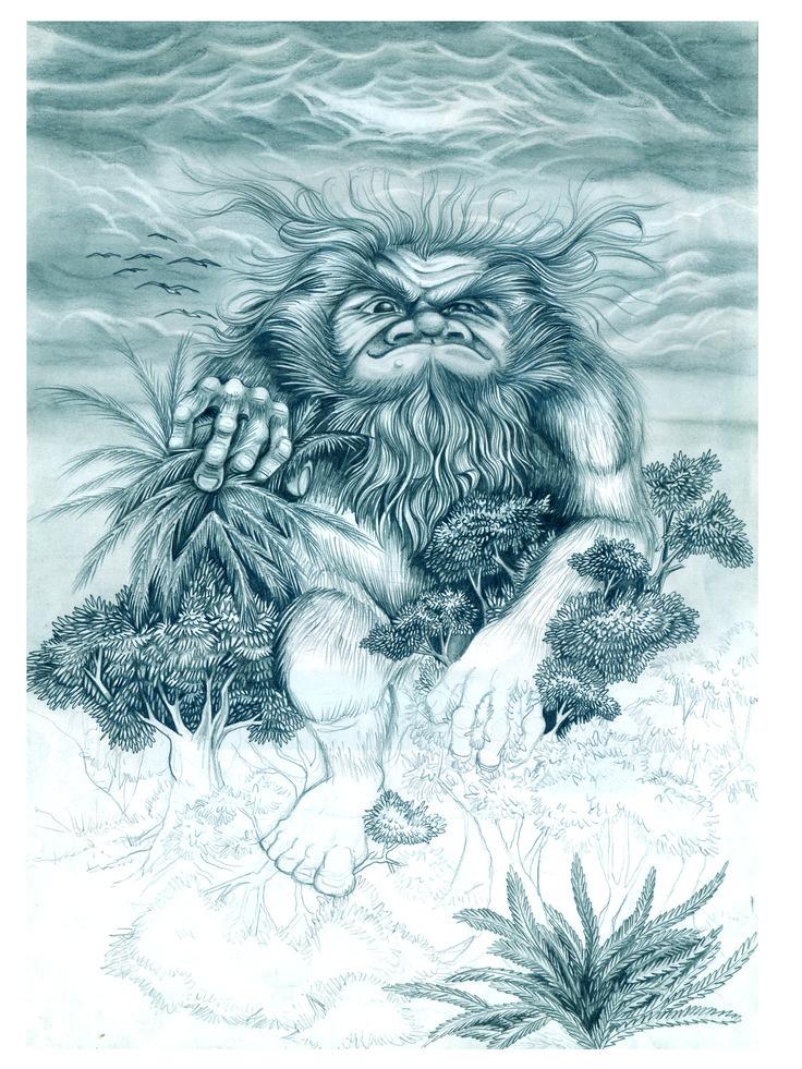 El guardián de las montañas (lápiz)
